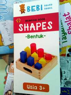 Buku Anak Boardbook Seri Bebi: Shapes Bilingual Full Color Hardcover