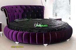 Round Bed on order any color khawaja's Fix price shop Rawalpindi