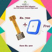 Buy Hybird Dual Sim Adapter - Get Free Night Bulb