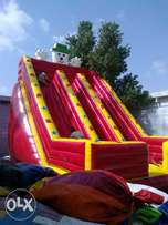 jumping castle and slide's