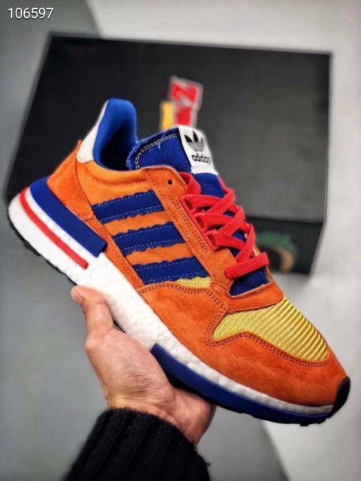 best service 01e82 ad23d Dragon Ball Z x Adidas ZX 500 RM Son Goku in Manila, Metro ...
