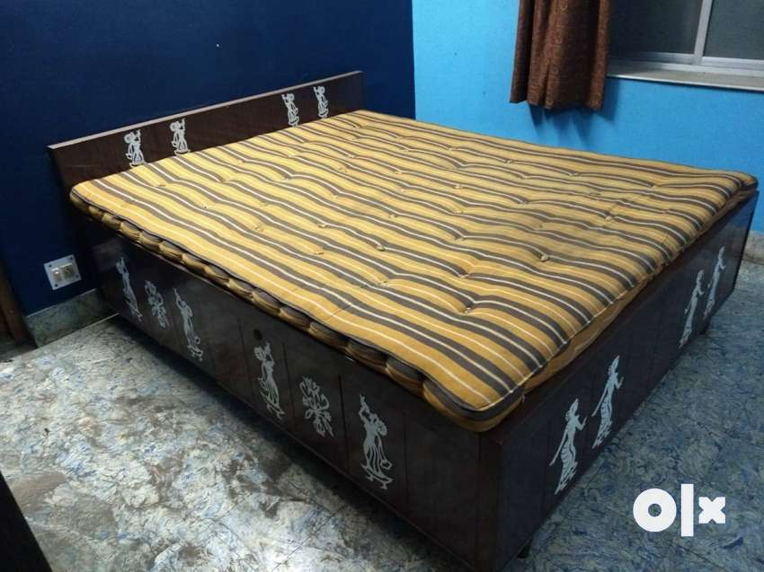 Wooden Box Bed With Mattress Beds Wardrobes 1298826925