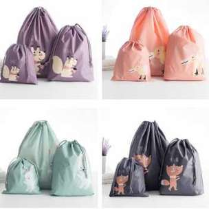 Bag in Bag Tas Serut Organizer Drawstring Bag Waterproof 3PCS