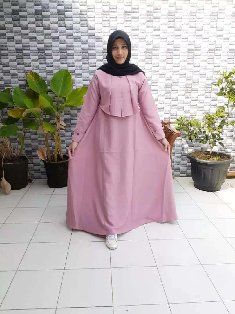 Gamis Azzahra Bahan Moscrepe Fashion Wanita 782695394