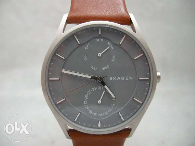 796be3cd82cfa8 ... Authentic Skagen SKW6264 Holst Grey Mineral Dial Leather Men Watch ...