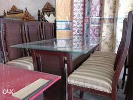 Daning table wood 6 chair