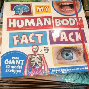 Buku anak judul Human Body Fact Pack