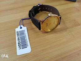 Omax New Brown Belt Gold imported watch