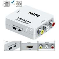 HDMI to AV Converter With USB Charger Cable - White