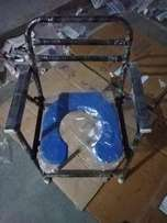 Blue And Black Commode Chair