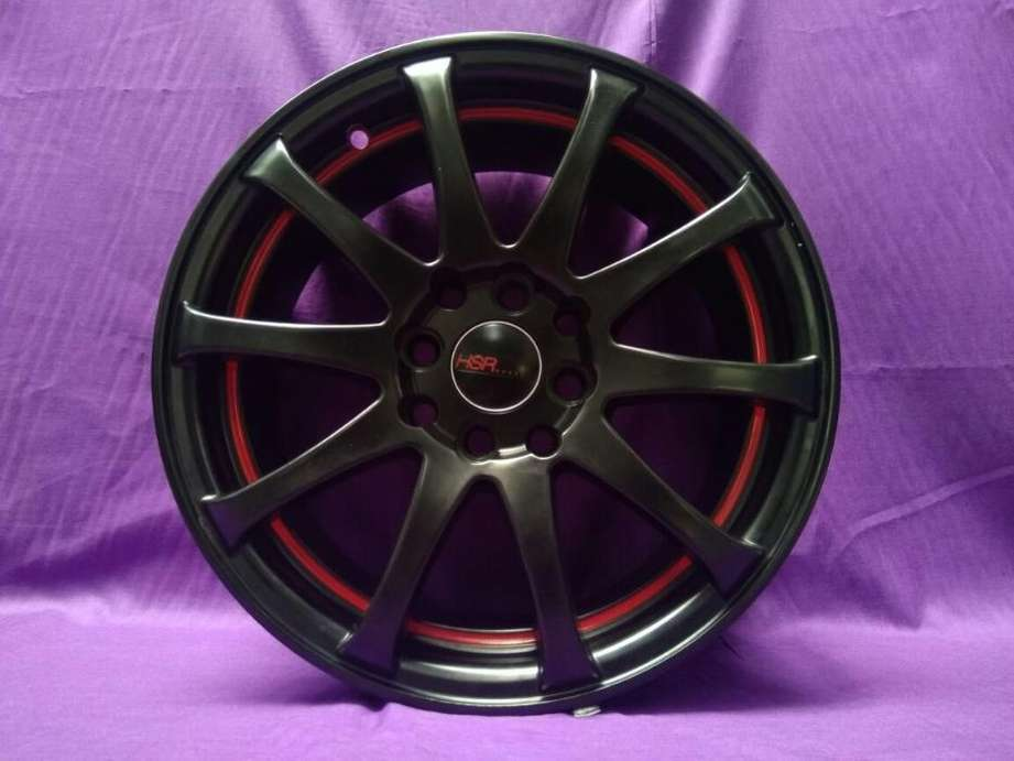 Velg untuk modif celica ring 16 model jd53 warna black red rivet