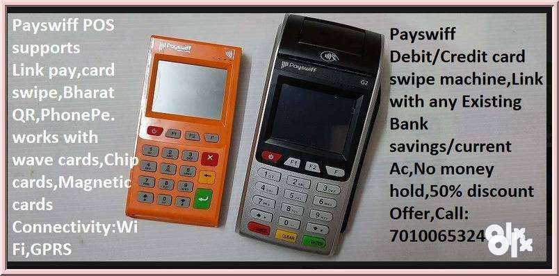 Payswiff card swipe machine,Link any bank savings account