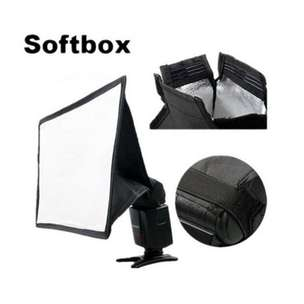 Universal Softbox Flash Diffuser Camera DSLR - Black
