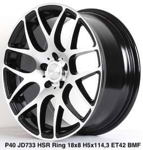 Velg Mobil Model P40 JD733 Ring:18X8 Hole:5X114,3