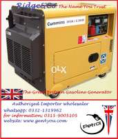 Cummins Super Silent 3 Kva, 99%Copper Gas Petrol Generator UK New