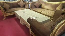 Solid wooden sofaset six seater. .modren style