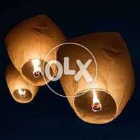 30 sky lantens in premium quality make your event memorable..