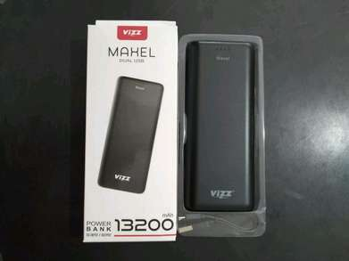 powerbank vizz Maxel dual usb 13200mAh pb power bank (sinar kita)