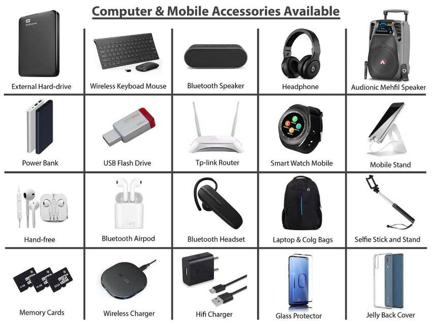Mobile Accessories Handfree, Airpod, Powerbank, Watches, Micro SD Card -  Accessories - 1008224862