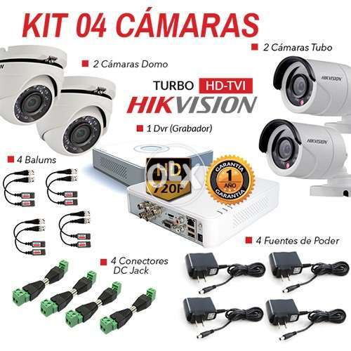 4 CCTV Full HD Dahua New Highly Reliable Camera System 180+ Count