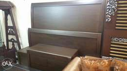 Pure solid wooden bed 100% in shesham wood