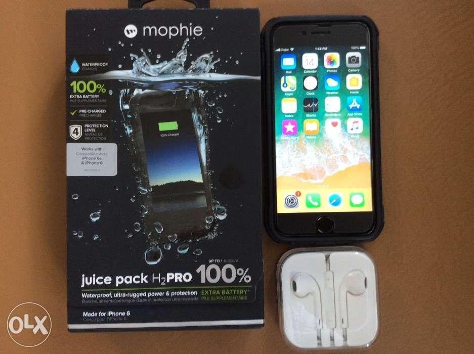 new arrival b046a 0e094 Iphone 6s 16gb with mophie juice pack H2Pro in Cainta, Rizal | OLX.ph