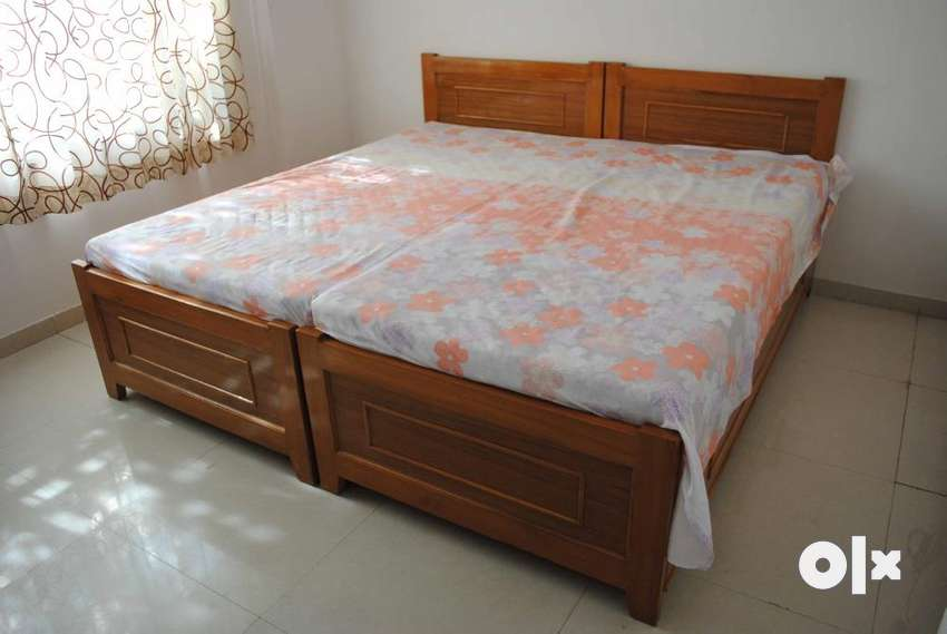King Size Teak Wood Bed With Storage Beds Wardrobes 1313065211