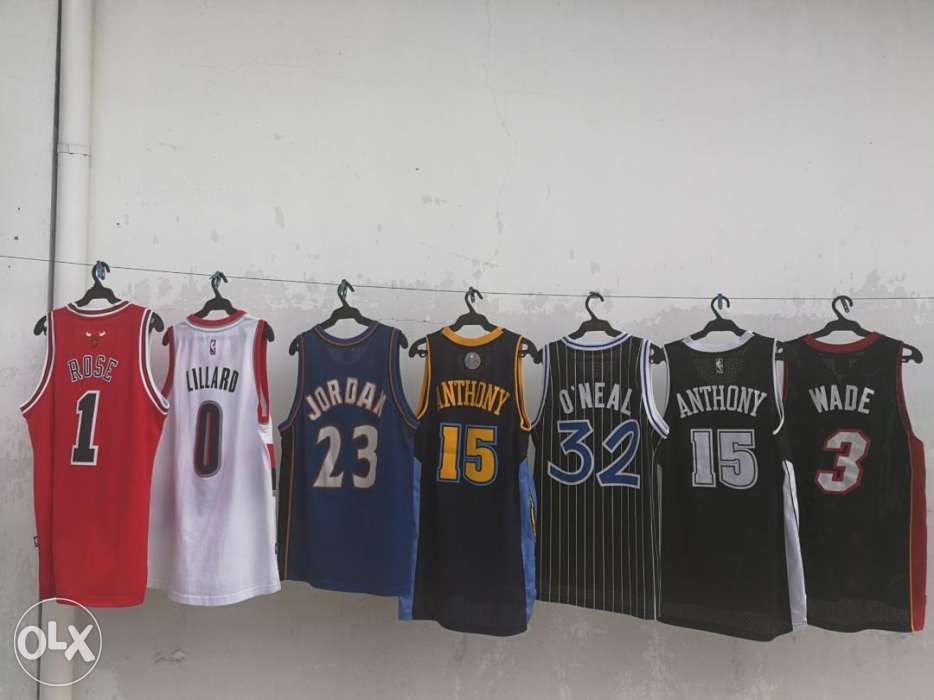4d7d0ca1b70 Nike Reebok Adidas NBA Swingman Jersey Bulls Rose Jordan Wade LBJ Heat ...