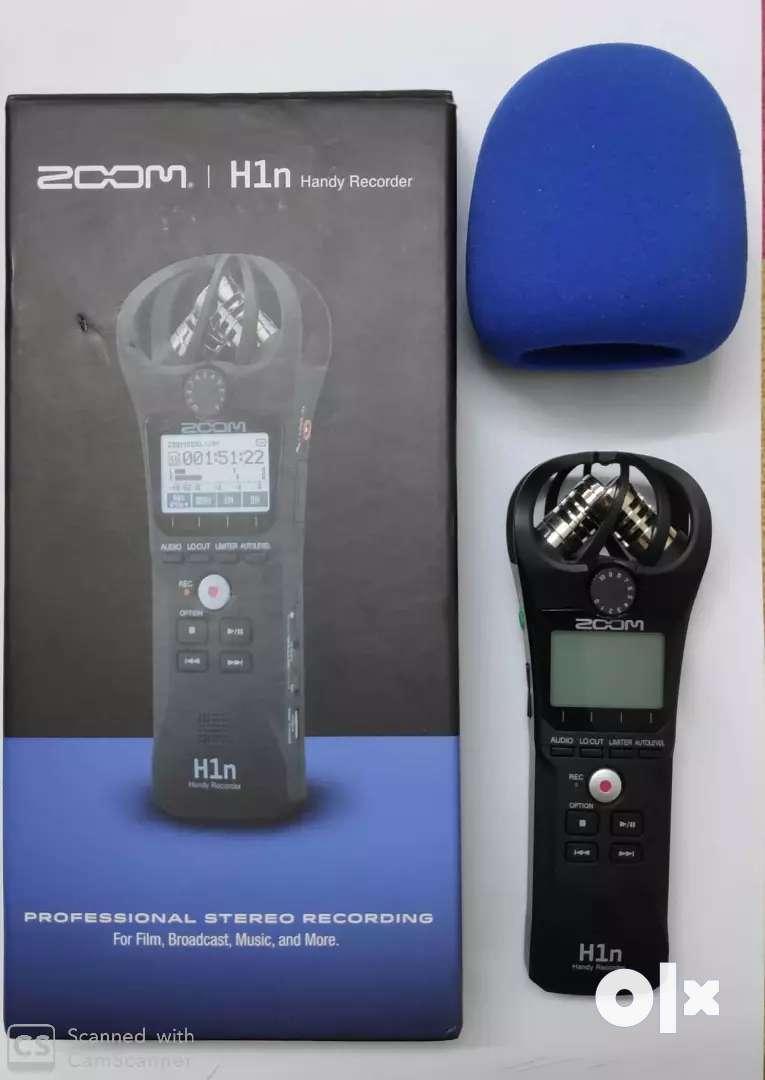 Zoom H1n Handy Recorder Black Musical Instruments 1535669722