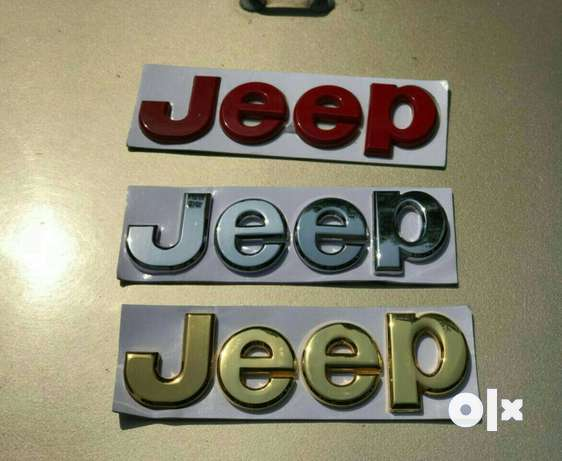 Flashy jeep accessories jeep sticker red golden