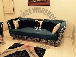 Beautiful sofa velvet and wood | Modern and Carved Fusion of sofa