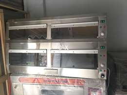 This is electric hot case 5 feet size we have new pizza ovens,deep fry