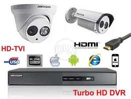 CCTV 8 Camera's Full HD Package With FREE (LCD) & FREE(Online View Mob