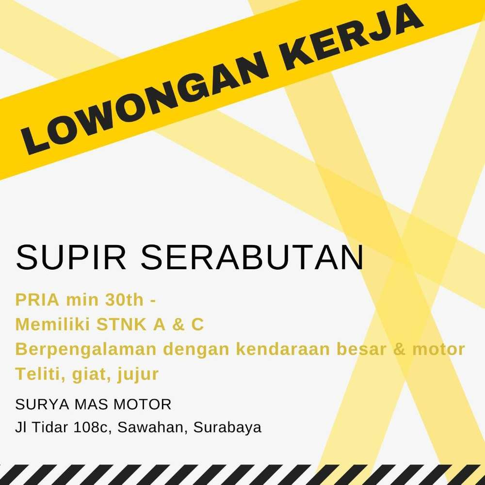 Olx Lowongan Kerja Surabaya Driver