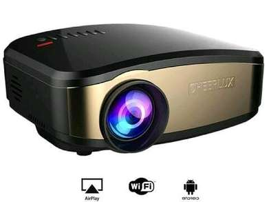 Proyektor Projector cheerlux c6 mini wifi 1200 Lumens+TV tuner