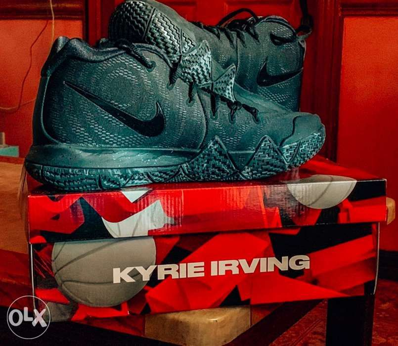 15ff77611f 2018 Nike Kyrie 4 Marble Triple Black Basketball Shoes in Pasay ...