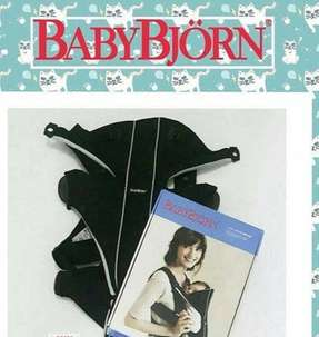 Baby Bjorn Miracle Cotton Baby Carrier in Black Colour