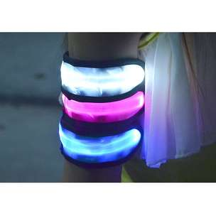 LED Warning Strap Arm Band - Green