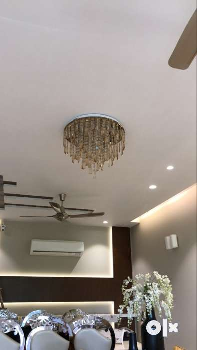Crystal Ceiling Chandelier Ceiling Jhumar 8 Months Used