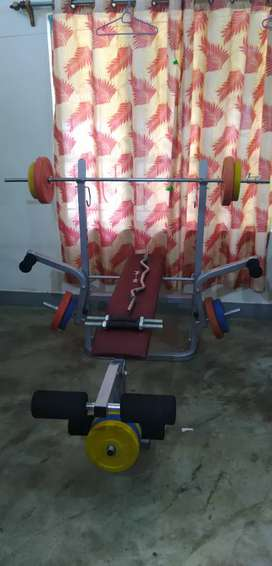 Multi gym bench used gym & fitness equipment for sale in india