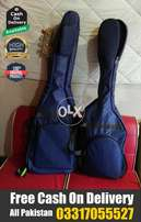 Bass Guitar Gig Bag Padded Navy Blue & Dark Brown With Free Delivery