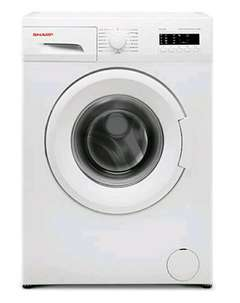 mesin cuci sharp 8kg front loading eco logic quick wash low wattage