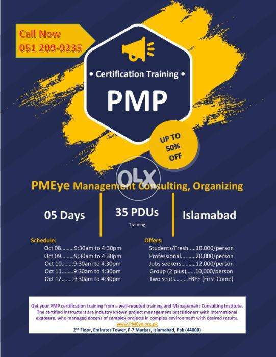 Pmp Certification Course Almost Free Islamabad Education