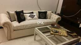 Brand New Molty foam filled 04 seater huge sofa with versace cushions