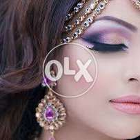 Part makeup with hair style 50% flat discount