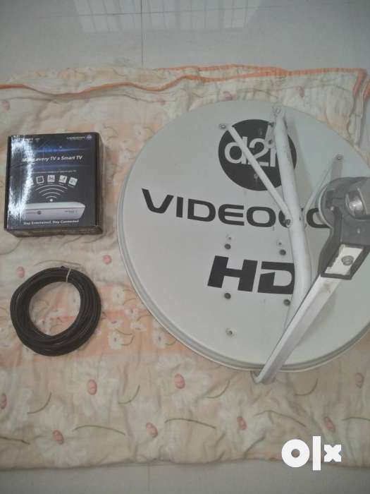 Videocon D2H Wifi setup box with all accessories + 10mtr