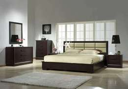 Hash wood flori bed king size two sides table low price