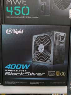 PSU Enlight 400w Black Silver 80+ Bronze Power Supply