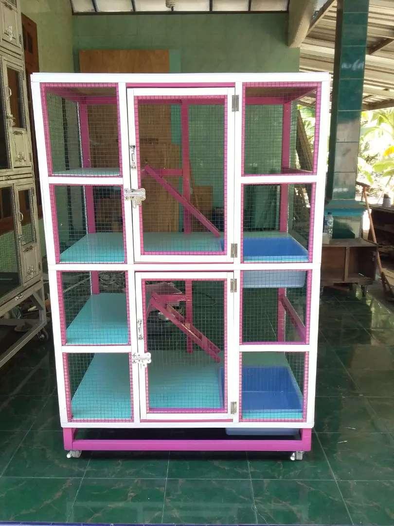 Kandang Kucing Persia Maincoon Anggora Bahan Kayu Mahoni Cat Pink Puti Hewan Peliharaan 754967994