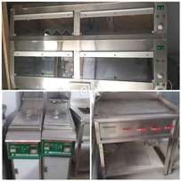 Hot case 5 foot with table 85000 single fryer 32000,hot plate 22000etc